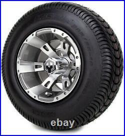 10 Ambush Gunmetal Golf Cart Wheels and Tires (205-65-10) Set of 4