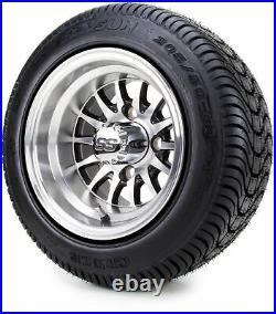 10 Medusa SS Golf Cart Wheels & Low Profile Tires Combo Set of 4