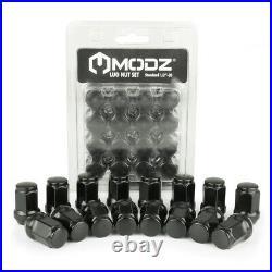 12 MODZ Bomber Matte Gunmetal Golf Cart Wheels and Tires (215-35-12) Set of 4