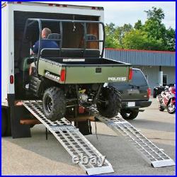 120 Aluminum 2,500 lb Off-Road 4-Wheel ATV & Golf Cart Loading Ramps MF2-12038