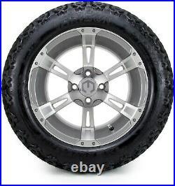 14 Ambush Gunmetal Golf Cart Wheels and Tires (23x10.00-14) Set of 4