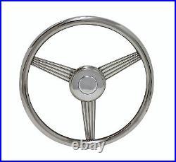 14 Banjo Steering Wheel With Adapter for Rhino & Yamaha Golf Cart