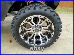 14 Omega Mach & Black Wheels 23 All Terrain Tires Golf Cart Lifted