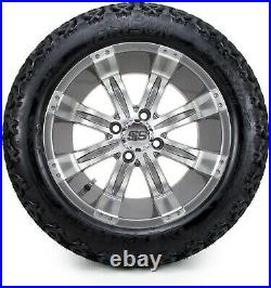 14 Tempest Gunmetal Golf Cart Wheels and Tires (23x10.00-14) Set of 4