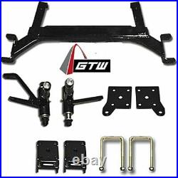 14 Tempest Wheels and X-Trail Tires + GTW Quality Golf Cart Lift Kit