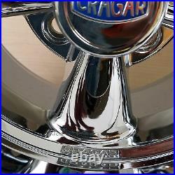14X7 4/4 Cragar Golf Cart RIM WHEEL Chrome Aluminum series 410C S/S with CAP