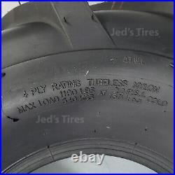 2 20x10-8 Golf Cart Go Kart Riding Mower Garden tractor R-1 Lug Tires Rim Wheel