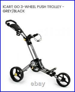 2020 iCart Go-3 Wheel Push Trolley Grey/Black