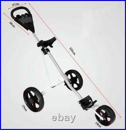 3 Wheel Golf Trolley Aluminum Alloy Foldable Trolley Cart UK