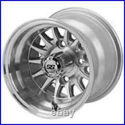 (4) 10x7 SS LSI Aluminum Alloy Golf Cart Car Rim Wheel Yamaha Club Car Precedent