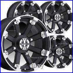 4 12x8 4/4 4+4 GOLF CART RIMs WHEELs fits EZ-Go Club Car Yamaha Bad Boy Harley