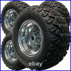4 22x9.50-10 GOLF CART TIRE RIM WHEEL ASSEMBLIES for EzGO Club Car Yamaha more