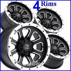 4 Aluminum Golf Cart RIMs WHEELs 12x8 4/4 4+4 Vision Type 548 COMMANDER