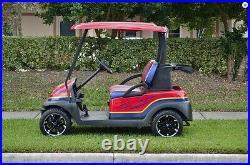 (4) Fairway Alloys 12 Sixer Golf Cart GEM Car Rim Wheel and EFX 215-50-12 Tires