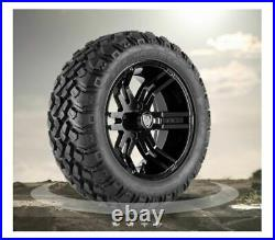 (4) Fairway Alloys 14 Flex Golf Cart Car Wheels & EFX 23-9.5-14 Hammer Tires