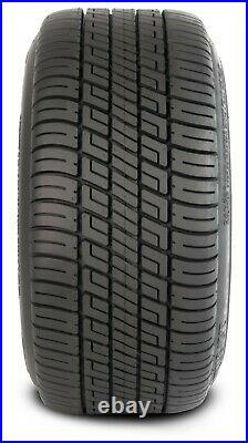 4 Golf Cart 205/30-14 Tire on a 14x7 Black/Machined Vampire Wheel Free Freight