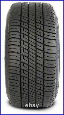 (4)Golf Cart 205/50-10 Tire on 10x7 Black/Machined Tempest Wheel