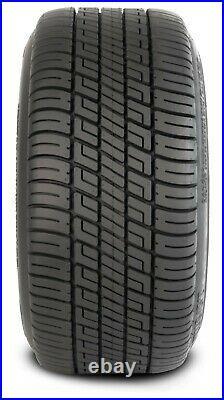 (4)Golf Cart 205/50-10 Tire on 10x7 Black/Machined Vampire Wheel Free Freight