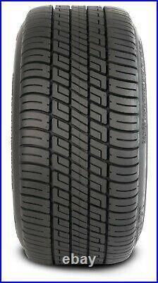 (4)Golf Cart 205/50-10 Tire on 10x7 Machined/Black 14-Spoke Wheel Free Freight