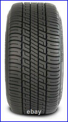 (4)Golf Cart 205/50-10 Tire on 10x7 Machined/Blue 14-Spoke Wheel Free Freight