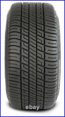 4 Golf Cart 215/35-12 DOT Radial Tires on 12x7 Black Machine Azusa Wheels