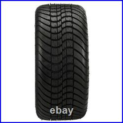 4 Golf Cart 215/35-12 DOT Tire on a 12x7 Black Machine Tempest Wheel
