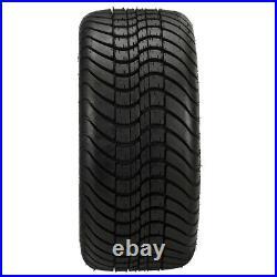 4 Golf Cart 215/35-12 DOT Tire on a 12x7 Black Machine Vampire Wheel