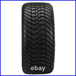 4 Golf Cart 215/35-12 Tire on a 12x7 Blk/Machined Vampire Wheel withFREE Freight