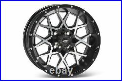 (4) ITP 12 Hurricane Aluminum Alloy Golf Cart Car Rim Wheels & Low Profile Tires
