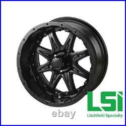 (4) ITP 14 SS LSI HD Aluminum Alloy Golf Cart Car Rim Wheels & 185/60-14 Tires