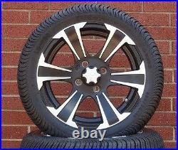 (4) ITP 14 SS LSI HD Aluminum Alloy Golf Cart Car Rim Wheels & DOT D. O. T. Tires