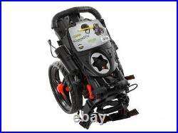 Bag Boy Compact 3 Wheel Push and Pull Cart Black/Red 3 Wheel Trolley