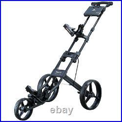 Big Max Easy Max IV Golf Trolley 3-Wheel Push Cart Lightweight Compact Foldable