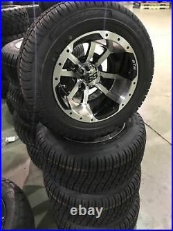 Blowout Golf Cart 10 Storm Trooper Wheels & 205 50 10 Low Profile Tires (4)