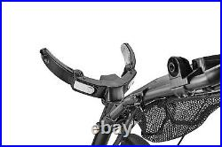 CaddyTek CaddyLite Silver Swivel Front Wheel Golf Push Cart Version 8