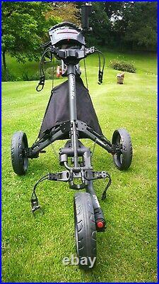 CaddyTek EZ-Fold 3 Wheel Golf Push Cart Golf Trolley -Dark Grey