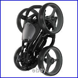 Caddymatic Golf Quad 4-Wheel Folding Golf Pull / Push Cart Black