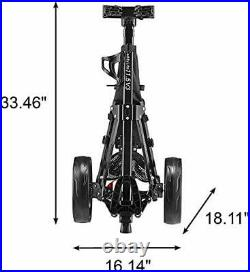 Caddytek CaddyLite 11.5 V3 3 Wheel Golf Push Cart Superlite Deluxe, Lightweigh