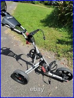 Clicgear 3.0 Golf Push Cart Grey and Black Collapsible, great Brakes 3 Wheel