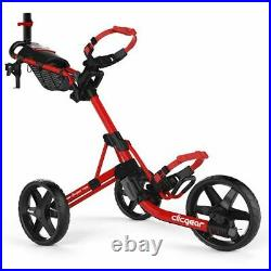 Clicgear 4.0 Golf Push Trolley Cart Red Umbrella + Drinks Holder NEW! 2021