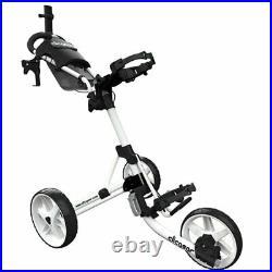 Clicgear 4.0 Golf Push Trolley Cart White Umbrella + Drinks Holder NEW! 2021