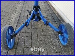 Clicgear Model 3.5+ Three Wheel Golf Push Cart, wheel cover, great condition