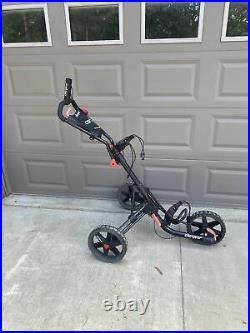 Clicgear Push Cart Golf Three Wheel Foldable Black