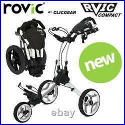 Clicgear Rovic RV1C Compact Golf Push Cart Trolley Artic White NEW! 2021