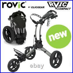 Clicgear Rovic RV1C Compact Golf Push Cart Trolley Silver NEW! 2021