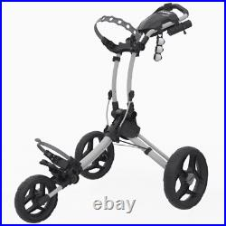 Clicgear Rovic RV1C Golf Push Trolley White 3 Wheel Compact New 2021 Cart