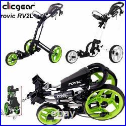 Clicgear Rovic RV2L 3-Wheel Pull/Push Golf Trolley/Cart