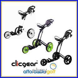 Clicgear Rovic RV2L Golf Cart Trolley Lightweight with Umbrella & Drink Holder