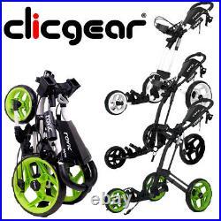 Clicgear Rovic RV2L Golf Trolley Push Cart Umbrella Holder, Drinks Holder