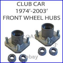 Club Car DS Golf Cart 1974'-2003' Front Wheel Hub (2) HUBS 1011892, 5052